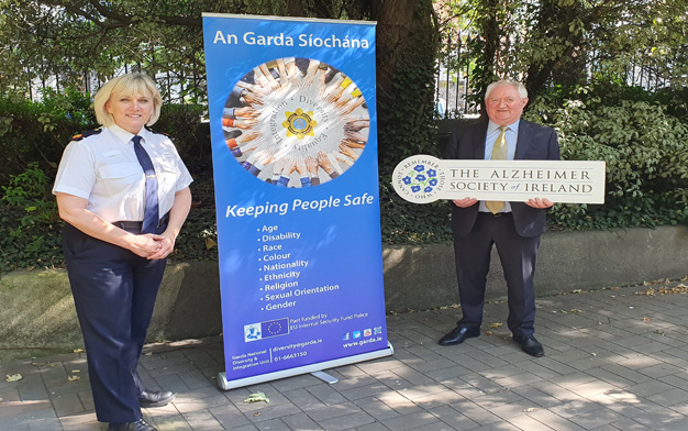 AC Hilman and Pat Mc Loughlin, CEO of Alzheimer Society of Ireland