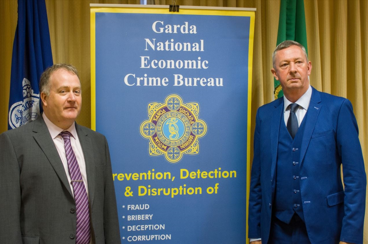 Det Chief Super Pat Lordan and Det Super Michael Cryan dangers of Investment Fraud