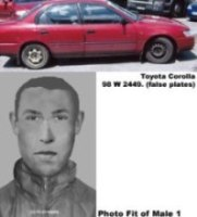 Vehicle similar make/model to one pictured and Photo Fit of male 1