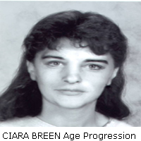 CIARA BREEN - Age progressed