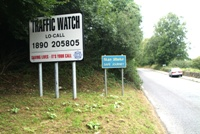 Traffic Watch signs encourage people to report dangerous driving